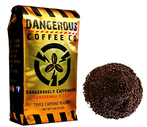 World's 1st Extra Strong High Caffeine Peaberry Coffee Dark Roast / Ground / Dangerous Coffee Co. (32 Oz. (2 Lb.))