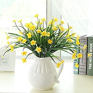 SituMi Artificial Fake Flowers  Rose Creative Minimalist Indoor Living Room Decoration Yellow Narcissus 1