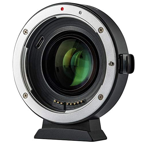 EF Lens Adapter for Canon EOS M, Viltrox EF-EOS M2 Auto Focus Lens Mount Adapter 0.71x Focal Reducer Speed Booster Lens Mount Adapter for Canon EF Mount Lens to Canon EOS-M Mirrorless Cameras