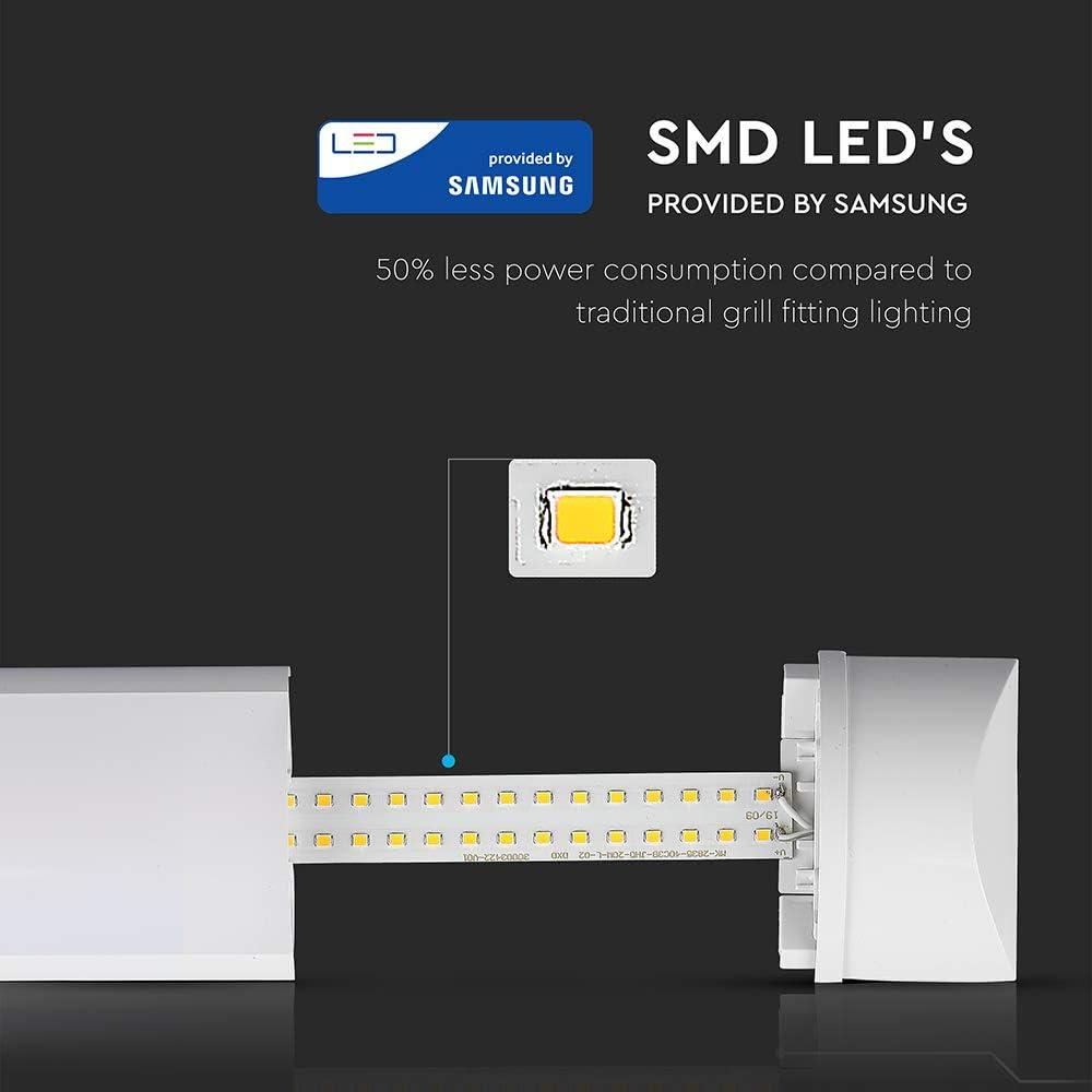 L/ámpara de techo LED Samsung Chip 20 W luz blanca fr/ía 6400 K 2400 l/úmenes IP20