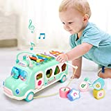Hisoul Children's Toy Car - Music Knocking Piano Bus - Bright Colors, Safe and Durable, Perfect...
