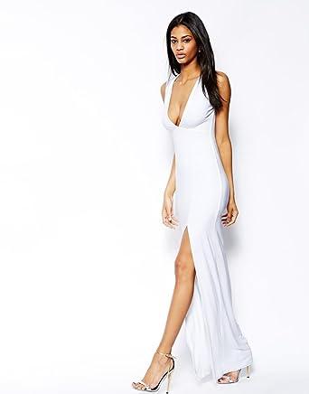 d7f1458b01dd ASOS TALL Deep Plunge Split Maxi Dress UK 8: Amazon.co.uk: Clothing