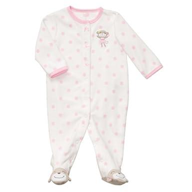 cf4164de66db Amazon.com  Carter s Infant Girls Plush Polka Dot Monkey Sleeper ...