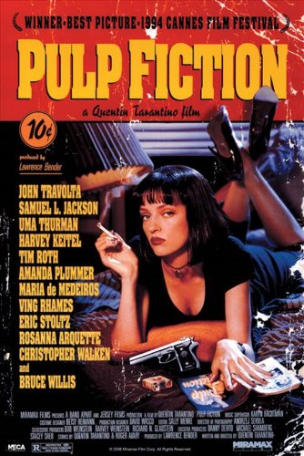 Image result for pulp fiction movie poster amazon