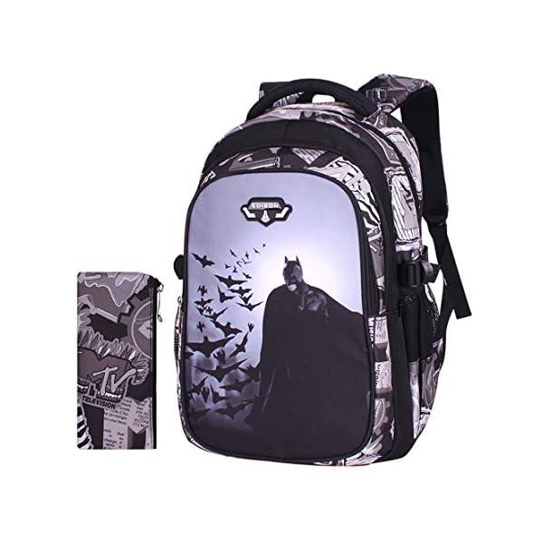 MODRYER Batman Zaino per Bambini Kid Borsa Ragazze Bookbag Ragazzi Schoolbag Leggero Zaino 3D Stampa Student Daypack… 1 spesavip