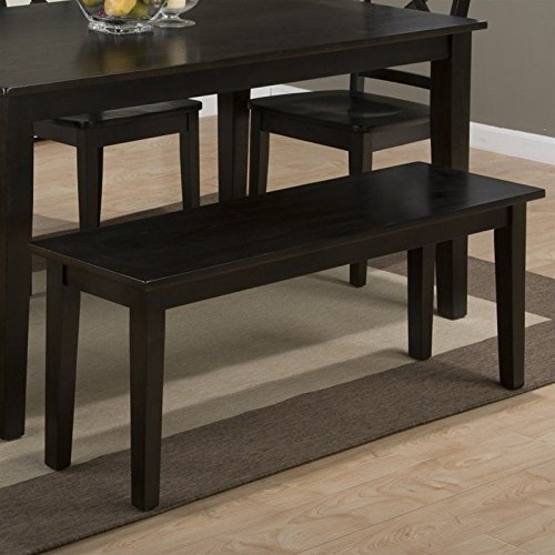 Jofran Simplicity Wood Dining Bench in Espresso