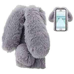 Amazon.com: LCHDA Funda para iPhone 6 conejo, iPhone 6S ...