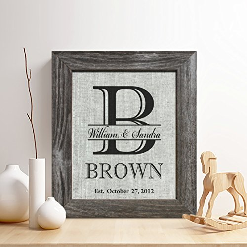 Personalized 4th Linen Anniversary Gift for Him or Her, Surn