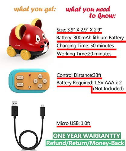 Powerbeast Toddler Toy Cars with Hand Control,Auto Follow,Obstacle Avoidance,Remote Control Car for Boys and Girls Toy,Ideal Gifts for Toddlers,Baby,Children