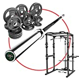 XMark Ultimate Home Gym POWER CAGE Package Featuring Our Power Cage, 255 lb. Set of Olympic Plates, and the XMark LUMBERJACK Olympic Bar