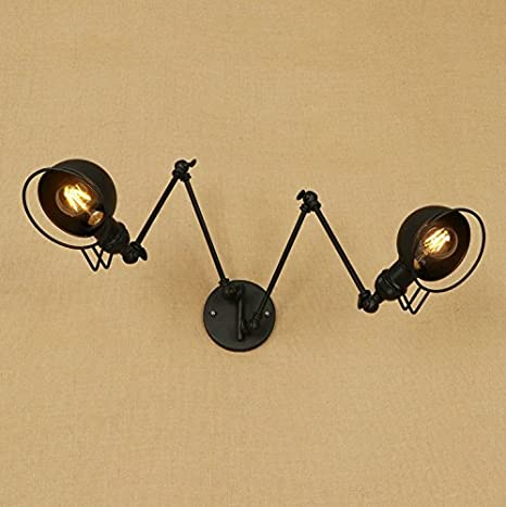 Lightinthebox Vintage Retro Country Swing Arm Metal Wall Light 2 Lights Wall Sconces Painting Finish Wall Lamp Lighting Fixture For Living Room