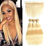 DACHIC 613 Blonde Human Hair Bundles with Frontal 7A Brazilian Straight Hair 3