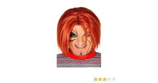 Rudy Peluca Adulto Muñeca asesina Chuckie, Color Rojo, fg4390: Amazon.es: Juguetes y juegos