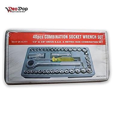 Socket 40 Pcs Combination Socket Toolkit (Set of 40) | Tookkit | Repair Tools | Industrial Tools | 14