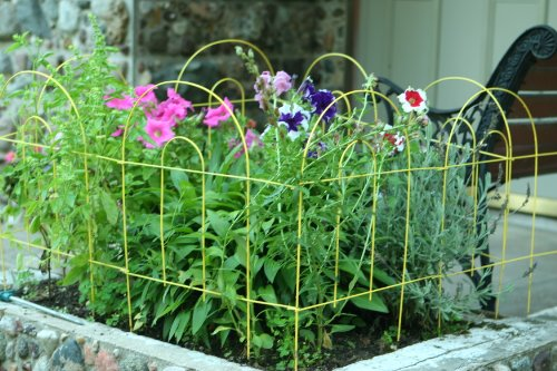 Amazoncom Glamos 778009 Folding Metal Wire Garden Fence 18