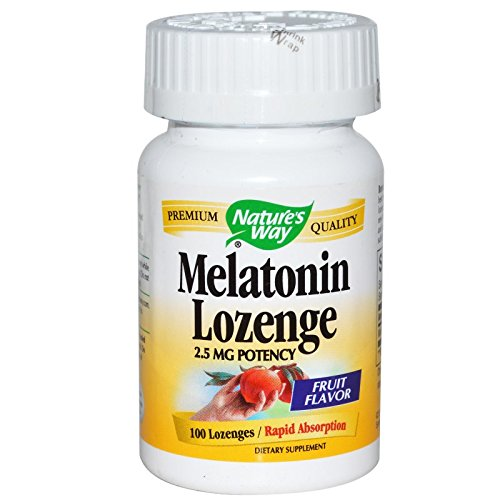 Natures Way Melatonin Lozenge Fruit - 2.5 mg - 100 Lozenges pack of (100 Ea Natures Way)