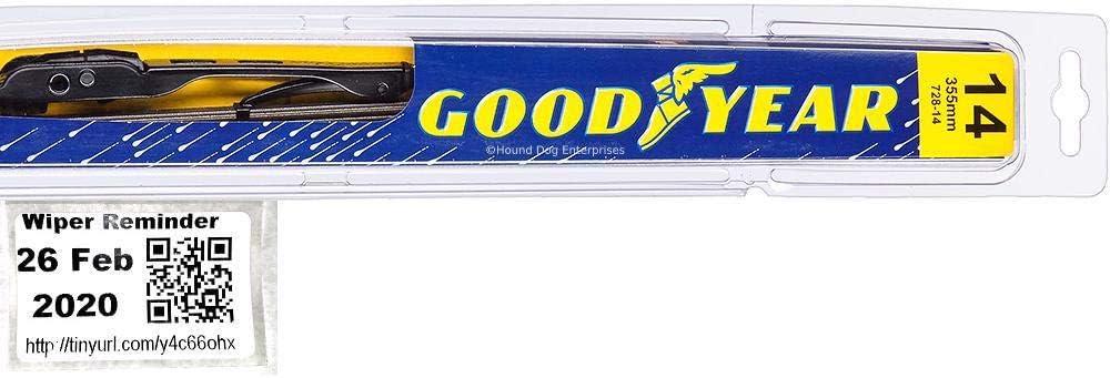 Driver 2008,2009,2010,2011,2012,2013 2007-2014 Toyota FJ Cruiser Wiper Blade Goodyear Wiper Blades-Premium