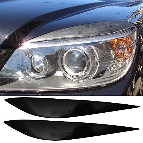Eyelid Fits 2008-2011 Benz C Class W204 | Unpainted Front Headlight Eyebrow Eyelid Cover LH RH Other Color Available By IKON MOTORSPORTS | 2009 2010