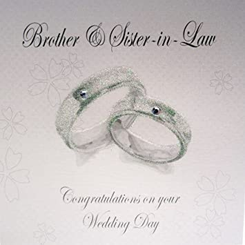 Brother And Sister In Law Rings Wedding Card