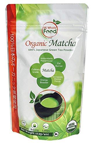 US Whole Food Premium Japanese Matcha Green Tea Powder,4 Ounce,100% USDA Organic by US Whole Food