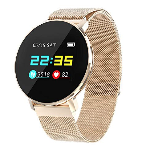 kati-way Smartwatch Damen Herren Armbanduhr Cardio Wasserdicht IP68 Smartwatch Kinder Fitness Tracker Sport Schrittzähler für iPhone Samsung Huawei Android iOS Smartphone