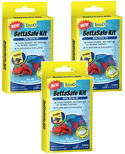 Conditioner Complete Betta Water (Tetra BettaSafe Kit Tablets - 24 Total Tablets (3 Packs with 8 Per Pack))