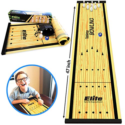 Elite Sportz Equipment Family Games for Kids and Adults - Fun Kids Games Ages 4 and Up - Way More Fun Than it Looks, is Quick and Easy to Set-Up - Outdoor Shuffleboard Mini Set