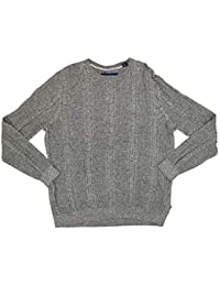 Marled Sands Cable Crewneck Sweater