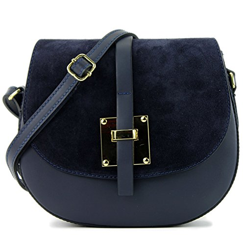 Blue Modamoda Bandolera T170 Pequeña De Leather T170 La Bandolera De Cuero Cuero Shoulder Ciudad Dark Bolsa Leather Bolso Bag Bag Bag Small Ital City De Ital De Shoulder Oscuro Azul Bag Modamoda De fTrpfx4