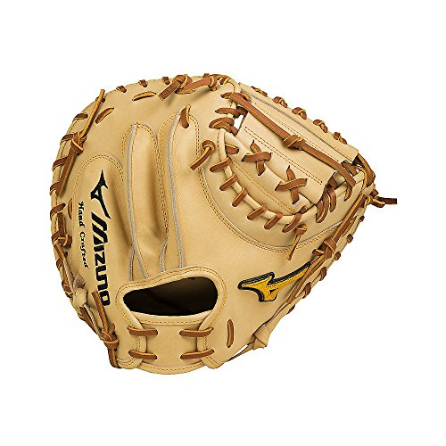Mizuno GMP2-335C Pro Catcher's Mitts, Tan, 34