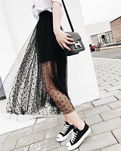 Point Elegant Femme Noir Taille d'onde Jupe Longue Tulle DianShaoA Haute Plage XwSqxq56