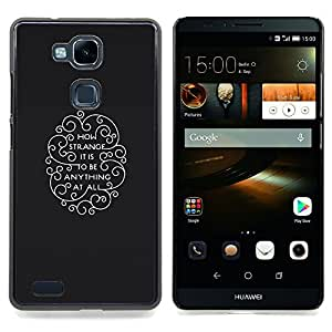 Ihec Tech Qué extraño es;;;;;;;; / Funda Case back Cover guard / for HUAWEI Ascend MATE 7