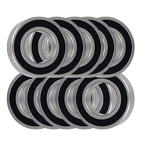 10 Bearing 6001RS 12x28x8 Sealed Ball Bearings