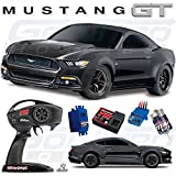 Traxxas 83044-4 Mustang GT Race Car Electric AWD Ford TQ 2.4GHz Remote Control - Size 1 10 - Black