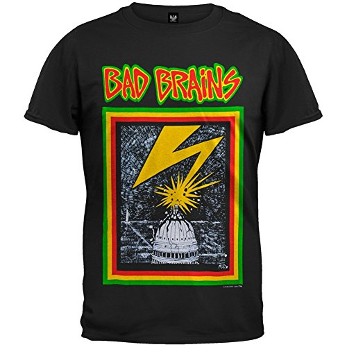 Old Glory Bad Brains - Mens Capitol T-Shirt 2X-Large Black