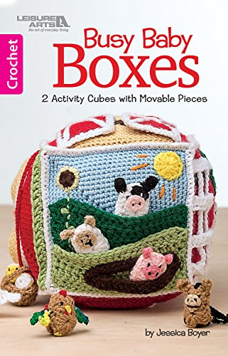 Busy Baby Boxes: 2 Activity Cubes with Movable Pieces (Crochet) -