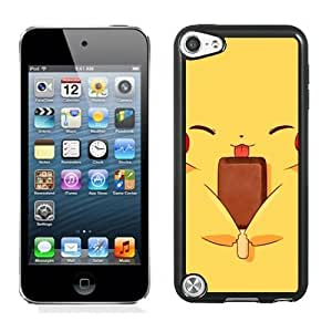 DIY Pokemon Popular Cute and Funny Pikachu 02 IPOD TOUCH 5 Generation Black Phone Case