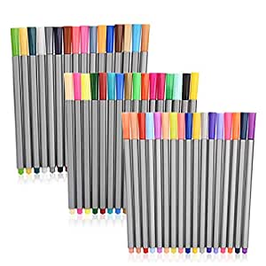 ZCZN 48 Colors Fineliner Pens Fine Tip Colored Writing Drawing Markers Pen Fine Point Pens for Bullet Journal,Coloring Book and Note Taking
