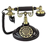 Design Toscano Antique Brittany Neophone 1929 Rotary Corded Retro Phone - Vintage Decorative Telephones, Black