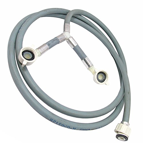 (SPARES2GO Y Fill Universal 2.5m Long Washing Machine Twin Inlet Hose)
