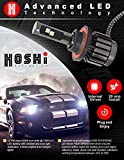 HOSHI H1 LED Headlights bulb - 6K 6000k 30W Bright White headlight at 8,000 Lm, JAPANESE INTERNAL PARTS,