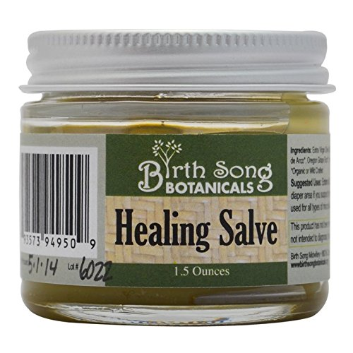 Birth Song Botanicals Herbal Healing Salve First Aid Ointment for the Treatment of Skin Irritations, 1.5 ounce jar by Birth Song Botanicals