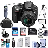 Nikon D3300 DSLR Body, 18-55mm G VRII Lens Bundle. Value Kit with Acc #1532