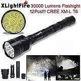 Portable Tactical Flashlight, XLightFire XM-L T6 LED 30000...