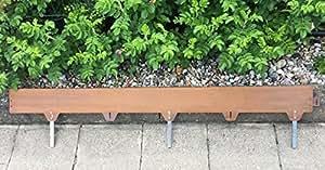 Césped borde Acero Corten metal/acero/Longitud: 1,5m de grosor: 2mm de altura: 12,5cm
