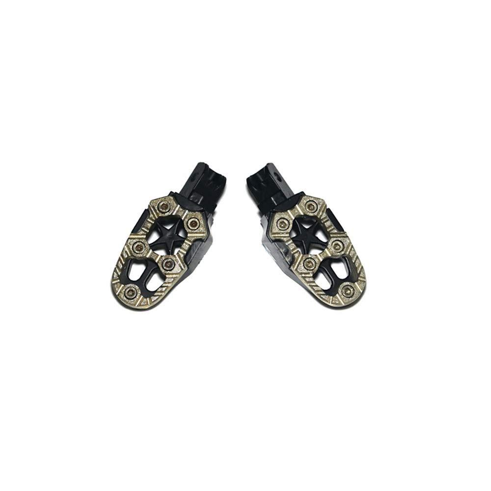 Hhpcspc Nuovo pedale universale da 8 mm in lega di alluminio per pedane con pedale con molla per accessori moto fuoristrada Colore : Rosso