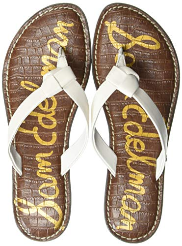 White Knotted Leather - Sam Edelman Women's Giles Sandal, Bright White Leather, 5 M US