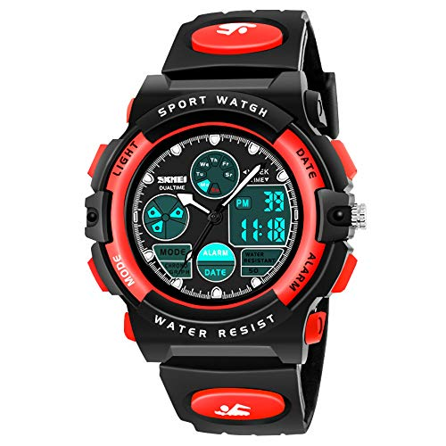 SOKY Gifts for 6-15 Year Old Boys Girls, LED 50M Waterproof Digital Watch for Kids Sport Watches for Kids Cool Toys for 6-15 Year Old Boys Birthday Christmas New Gifts Xmas Stocking Fillers SKUSW04