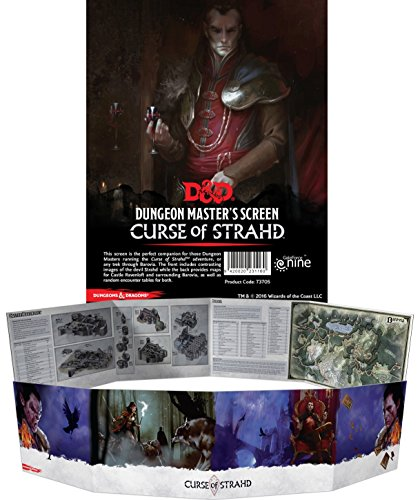 D&D Dungeon Master's Screen Curse of Strahd Board Game
