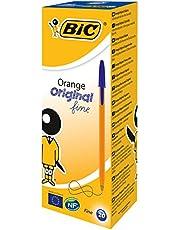 Bic Orange Ball Pen 0.8mm Tip 0.2mm Line Black Ref 1199110114 [Pack of 20]_parent